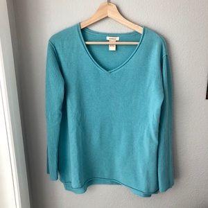 Sky blue 100% cashmere Sundance sweater